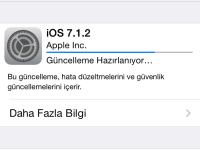 IOS 7.1.2 Güncellemesi Geldi